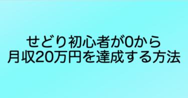 【せどり】初心者が0から月収20万円を達成する方法