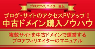 ブログ・サイトのアクセスPVアップ中古ドメイン購入ノウハウ【10部限定価格】2,500円⇒480円