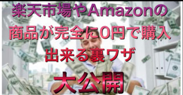 楽天市場やAmazonで商品を0円で手にする裏ワザを大公開!