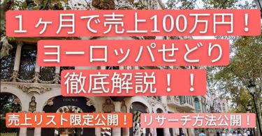 【保存版】一ヶ月で100万円を売り上げた海外買い付け ~初心者でもできるせどりの仕組み公開~