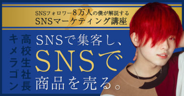 SNSフォロワー8万人の僕が解説するSNSマーケティング講座【SNSで集客し、SNSで商品を売る】