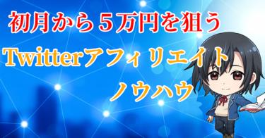 1日20分で初月から5万円以上を狙うTwitterアフィリエイトノウハウ