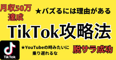 TikTok攻略法!YouTubeの時みたいに乗り遅れるな