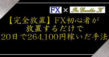 【完全放置】FX初心者が放置するだけで20日で264,100円稼いだ手法